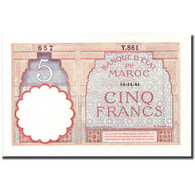 Billet, Maroc, 5 Francs, 1941, 1941-11-14, KM:23Ab, SPL+ - Morocco