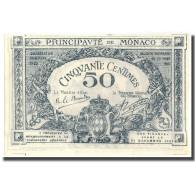 Billet, Monaco, 50 Centimes, 1920, 1920, KM:3a, NEUF - Mónaco