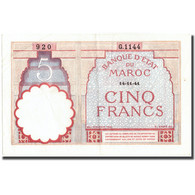 Billet, Maroc, 5 Francs, 1941, 1941-11-14, KM:23Ab, SUP - Morocco
