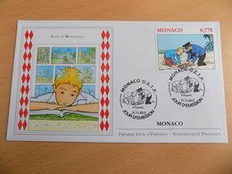 FDC MONACO 2012 : Tintin En Monégasque (timbre De 0.77 Euro) - FDC