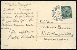 BAD REICHENHALL/ A/ BERGHOTEL PREDIGTSTUHL 1937 (7.3.) Seltener 2K-Steg = Hotel- U. Seilbahnstations-Postamt! Auf S/w.-F - Postzegels