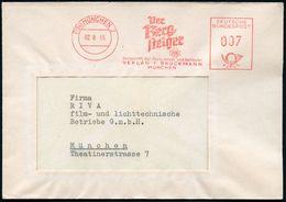 (13b) MÜNCHEN 2/ Der/ Berg=/ Steiger/ Zeitschrift Für Bergsteiger U.Schiläufer.. 1955 (2.6.) AFS Mit  Edelweiß (vs. Abs. - Postzegels