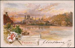 PASSAU 2 1899 (10.8.) 1K Auf PP 5 Pf. Wappen, Grün: XXVIte GENERAL-VERS. Des D.(eutschen) U. OE.(sterr.) ALPENVEREINS (O - Postzegels