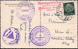 REICHENAU/ (NIEDERDONAU)/ Luftkurort/ Am Fuße/ D.Rax 1940 (21.6.) HWSt = Rax-Seilbahn + 4 Verschied. Hütten-HdN, Dabei:  - Postzegels