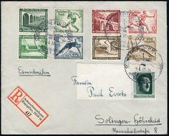 """SCHNEEFERNERHAUS-ZUGSPITZE/ Mit Der Bayer./ Zugspitzbahn 1937 (28.4.) HWSt = Hauspostamt Hotel """"Schnee-fernerhaus"""" U. Se - Postzegels"""