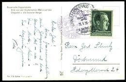 SCHNEEFERNERHAUS-ZUGSPITZE../ Mit Der Bayer./ Zugspitzbahn 1939 (26.9.) HWSt = Hauspostamt Zugspitze-Hotel + Viol. 2K-Hd - Postzegels