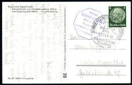 SCHNEEFERNERHAUS-ZUGSPITZE/ Mit Der Bayer./ Zugspitzbahn 1941 (21.7.) HWSt = Hotelpostamt U. Seilbahn-station (Seilbahn) - Postzegels