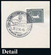 (13 B) #bzw.# 8101 SCHNEEFERNERHAUS (ZUGSPITZE)/ BAYER.ZUGSPITZBAHN 1956/64 HWSt Mit PLGZ, Aptierte PLGZ (= Entfern) U.  - Postzegels