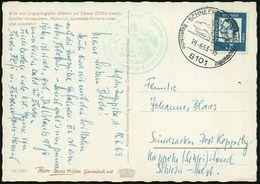 8101 SCHNEEFERNERHAUS/ ..Bayer.Zugspitzbahnen 1968 (7.8.) HWSt, Neue PLZ = Hotelpostamt (Gipfelkreuz) + Grüner HdN: Münc - Postzegels