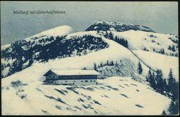 TEGERNSEE 1. 1907 (12.2.) 1K + Viol. Oval-hdN: Wallberhaus/bei Tegernsee (Edelweiß) Monochrome Foto-Ak.: Wallberg-Unterk - Postzegels