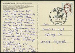 82475 ZUGSPITZE/ 2964m ü.NN/ Garmisch-Partenkirchen 1994 (19.9.) HWSt = Hauspostamt Zugspitze-Hotel (Gipfelkreuz) Glaskl - Postzegels