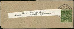ÖSTERREICH 1919 Privat-Zeitungs-Sb 5 H. Krone, Grün Mit Buchdruck-Vorausentwertung: WIEN 101/Mitteilungen D.Dt.u./ Öster - Postzegels