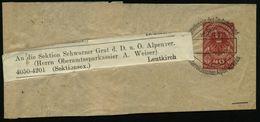 ÖSTERREICH 1920 40 H. Staatswappen, Rot:  Zeitungs-Sb Mit VE: WIEN 101/Mitteilungen D.D.u.Österr.Alpenvereins An D. D.u. - Postzegels