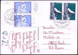 SCHWEIZ 1965 (14.7.) SSt.: 3920 ZERMATT/1865 MATTERHORN 1965 = 100 Jahre Erstbesteigung 2x Auf Paar 10 C. Matterhorn U.a - Briefmarken
