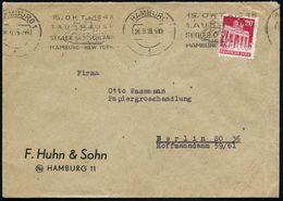 (24a) HAMBURG 1/ F/ 15.OKT.1848/ 1.AUSREISE/ SEGLER DEUTSCHLAND.. 1949 (26.9.) Seltener BdMWSt = Auswanderer-Segelschiff - Geschiedenis