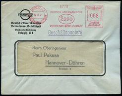 LEIPZIG C1/ REICHSMESSESTADT/ DEUTSCH-AMERIKANISCHE/ PETROLEUM-GES./ Esso 1941 (24.10.) AFS = Esso-Logo (entworfen V. Ra - Zonder Classificatie