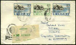 """URUGUAY 1961 20 C. (2x) U. 40 C. """"Aufstand Von 1811"""" = überkompl. Satz Kavallerie-Attacke + Grüner RZ (Montevideo) Saube - Zonder Classificatie"""