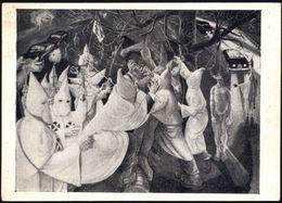 "UdSSR 1957 Anti-amerikan. Propaganda-Künstler-Ak.: ""Ku Klux-Klan"" (Lynch-Mord) = Gemälde V. Artur Chafkun, Ungebr. - AME - Geschiedenis"