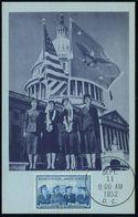 """U.S.A. 1952 (11.9.) 3 C. """"Frauenkoprs Der US-Armee"""" (Uniformen) + ET-SSt. (Washington DC), ET-Maximum-Karte  (Mi.632) -  - Geschiedenis"""