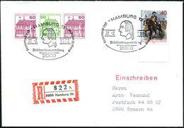 2000 HAMBURG 13/ 200.Geburtstag G.Washington 1982 (22.2.) SSt = Kopfbild Washington Auf 40 Pf. Steuben (Mi.628 Etc) + RZ - Zonder Classificatie