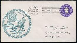 U.S.A. 1932 (2.9.) 3 C. U Washington, Viol. + Grüner HdN: WASHINGTON SIGNED ACT.. TREASURE DEPMT. (Münzprägepresse Etc.) - Geschiedenis