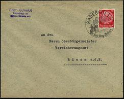 "RADEBEUL 1/ Karl-May-Museum 1939 (5.1.) HWSt = ""Old Shatterhand"" U. ""Winnetou"" Zu Pferd (vor Villa ""Bärenfett"") Klar Ges - Geschiedenis"