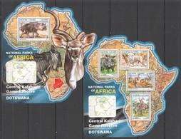 ST275 2016 SIERRA LEONE WILD ANIMALS NATIONAL PARK CENTRAL KALAHARI KB+BL MNH - Briefmarken
