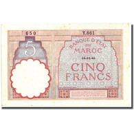 Billet, Maroc, 5 Francs, 1941, 1941-11-14, KM:23Ab, TTB+ - Morocco