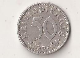 50 REICHSPFENNIG 1940 D - [ 4] 1933-1945 : Troisième Reich