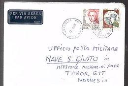 Posta Militare Nave S. Giusto Missiione TIMOR EST TORREGLIA Italia (225) - Timor