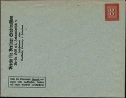 Berlin SW 61 1942 PU 8 Pf. Ziffer, Rot/bläulich: Verein Für Berliner Stadtmission.. , Ungebr., Selten!  (ME.PU 147/B 2)  - Christendom