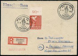 MÜNCHEN 2/ Briefm.Ausstellung/ Zu Gunsten Des Bayer.Roten Kreuzes 1947 (3.9.) Seltener SSt = Maria Mit Jesuskind Auf Mon - Christendom