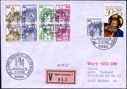 5830 SCHWELM 1/ 300 JAHRE ST.MARIEN/ Gemeindetag'82 1982 (5.6.) SSt = Marien-Skulptur Mit Jesuskind A. 50 + 25 Pf. Jesus - Christendom