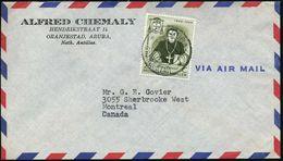 "NIEDERL.ANTILLEN 1960 (15.6.) 25 C. ""100. Todestag Missionar M.J. Niewindt"" (1796 - 1860), EF Klar Gest. Firmen- Übersee - Christendom"