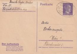 ALLEMAGNE 1943   ENTIER POSTAL/GANZSACHE/POSTAL STATIONERY CARTE AVEC CACHET FERROVIAIRE ZUGSTEMPEL LUNDENBURG-WIEN - Allemagne