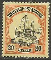 German East Africa - 1905 Kaiser's Yacht 20h Mint Hinged *  Sc 26 - Colony: German East Africa