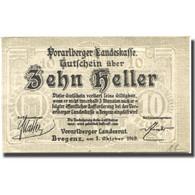 Billet, Autriche, Vorarlberger, 10 Heller, Blason, 1919 SPL Mehl:FS 1118I - Austria