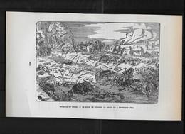 A105 / COUPURE / HISTOIRE MILITAIRE /  BATAILLE DE SEDAN / LE RAVIN DE GIVONNE LE MATIN DU 3 SEPTEMBRE 1870 - Französisch