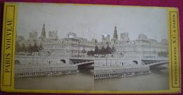 PHOTO STÉRÉOSCOPIQUE -Paris,l'hôtel De Ville Et La Seine, N.C.Photo. - Photos Stéréoscopiques