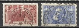 8106A-SERIE COMPLETA FRANCIA 1936 JEAN JAURES Nº318/9 USADOS 5,60€ YVERT FRANCE - Francia