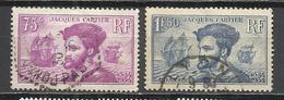 8107-SERIE COMPLETA FRANCIA 1934 Nº296/7 USADOS JACQUES CARTIER NAVEGACION BARCOS NAVEGANTES. - Francia