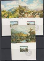 Liechtenstein 1982 Paintings Of Moritz Menzinger 3v 3 Maxicards (42781) - Maximumkaarten