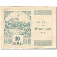 Billet, Autriche, Kilb, 10 Heller, Eglise 1920-12-31, SPL Mehl:FS 437IIIc - Austria