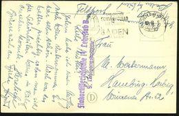 BADEN Bei WIEN 1/ A/ DAS GROSSE/ SCHWEFELBAD/ DER OSTMARK.. #bzw.# Thermalstranbad..bei Wien 1940/43 2 Verschiedene MWSt - Geschiedenis