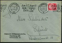 """HAMBURG 1/ A/ Am 10.April/ Dem Führer/ Dein """"Ja"""" 1938 (4.4.) Seltener BdMWSt = Abstimmung Zur Annexion Österreichs , Kla - Geschiedenis"""