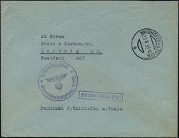 WAIDHOFEN A.d.THAYA/ A 1939 (23.2.) Aptierter, österr. 1K-Steg + Viol. 1K-HdN: Reichsarbeitsdienst/Arbeitsdienstabt. 4-3 - Geschiedenis