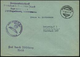 WAPPOLTENREITH/ B 1941 (6.3.) Aptierer, österr. 1K-Steg + Viol. HdM: Reichsarbeitsdienst/..für Die Weibliche Jugend/ Lag - Geschiedenis