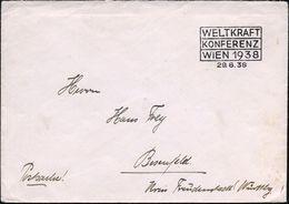WIEN 1938/ WELTKRAFT/ KONFERENZ 1938 (29.8.) SSt In Sonderform = Völkerbund-Konferenz!, Noch In Der Zeit Der Republik Ge - Geschiedenis