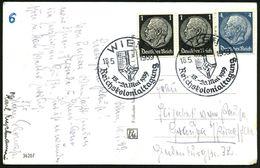 WIEN/ Reichskolonialtagung 1939 (18.5.) SSt = NS-Kolonialflagge 2x Klar Auf S/w.-Foto-Ak. (Wien 13 Detailansichten) Beda - Geschiedenis
