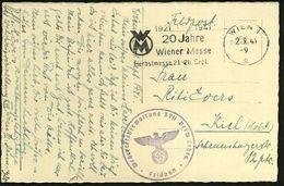 WIEN 1/ G/ 1921 1941/ WM/ 20 Jahre/ Wiener Messe/ Herbstmesse.. 1941 (2.9.) MWSt = Messe-Logo + Viol. 1K-HdN: Wehrkreisv - Geschiedenis